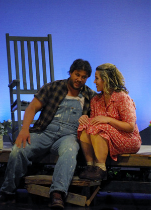 Andrew Peck as Sam and Jacqueline Noparstak as Susannah